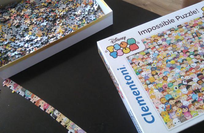 puzzle na 1000 elementów Clementoni disney tsum tsum