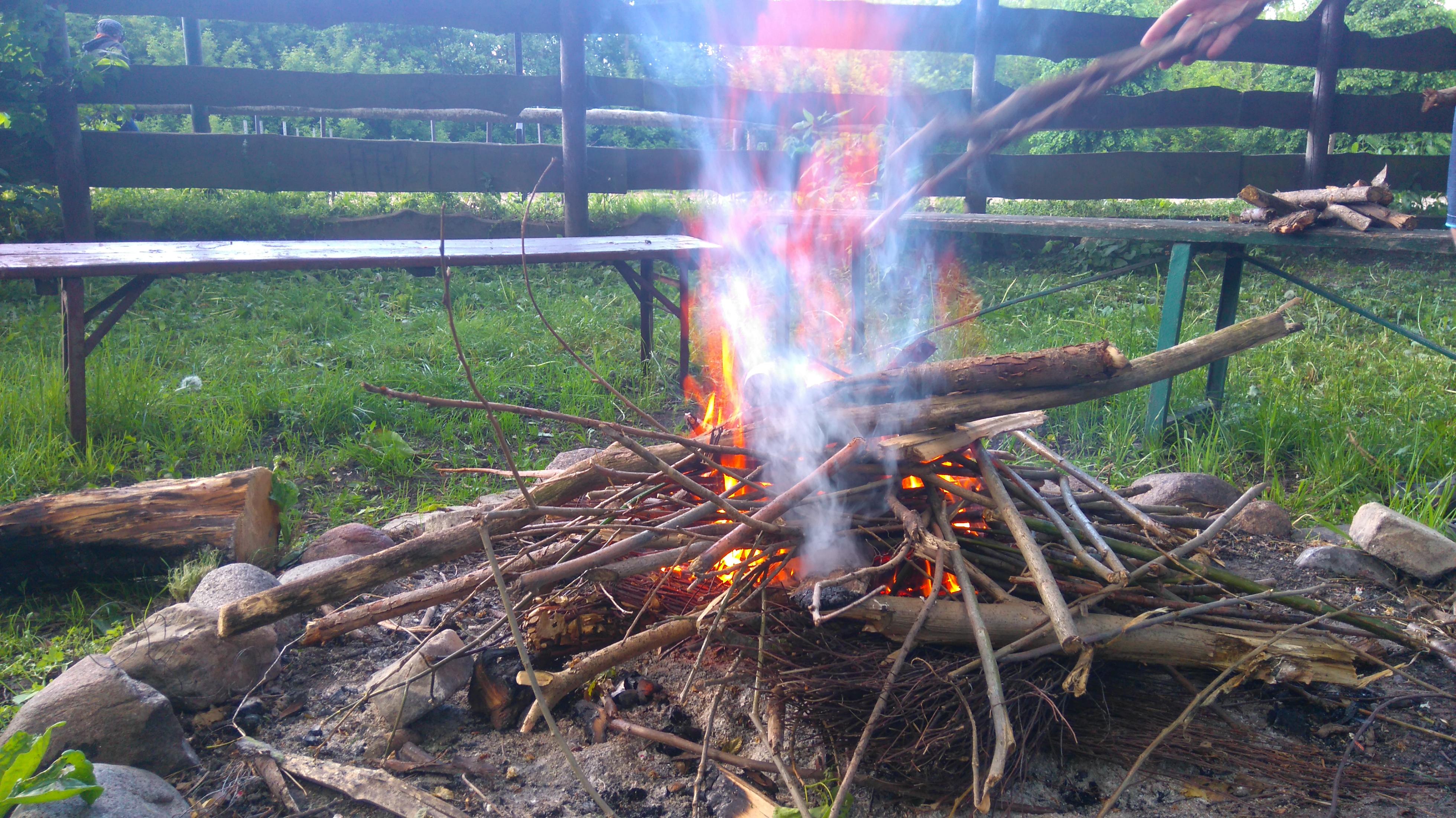 ognisko w Lubelskim Klubie Jeździeckim
